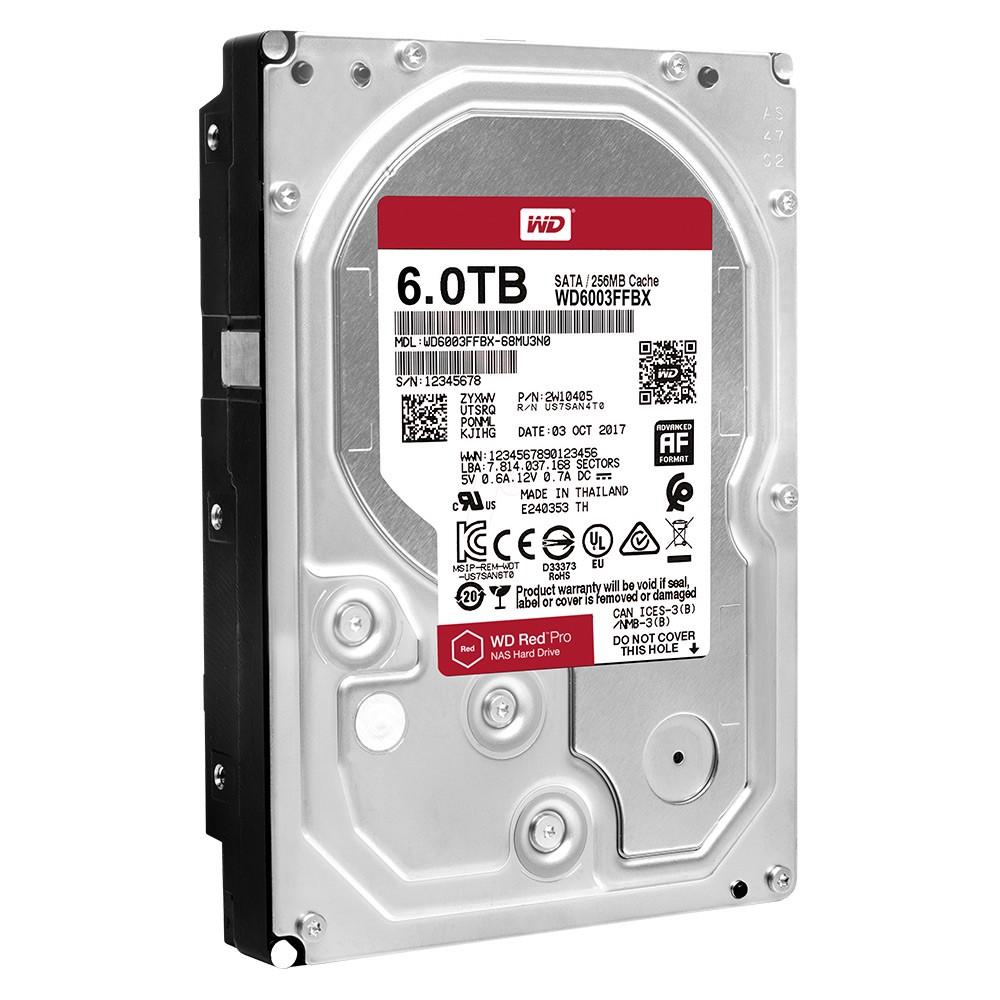 Ổ cứng HDD WD 6TB WD6003FFBX Sata 3 (Đỏ)
