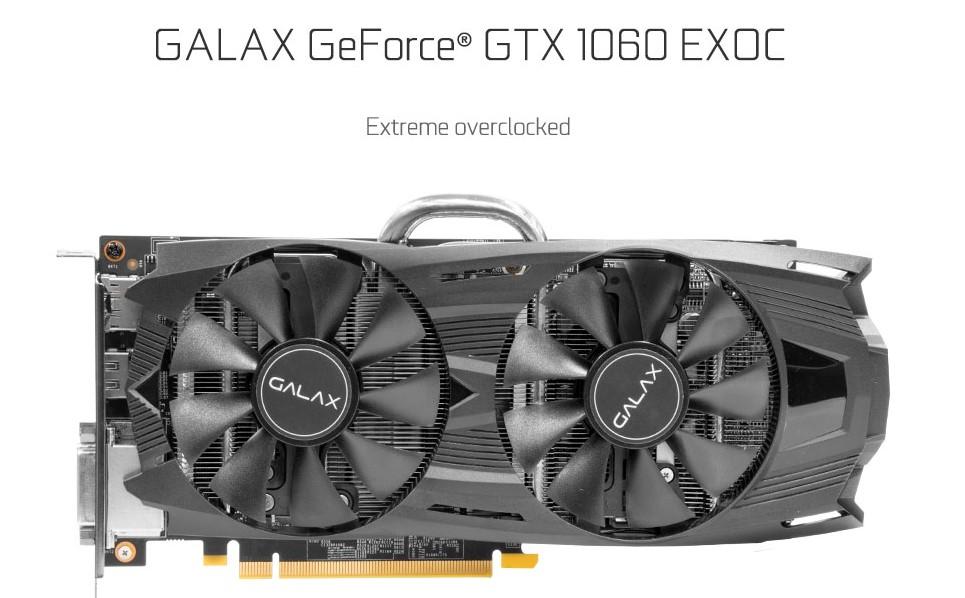 Card màn hình Galax 6GB GTX1060 EXOC