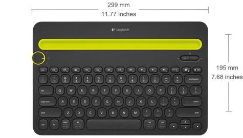 Bàn phím Logitech Bluetooth K480 (Trắng)