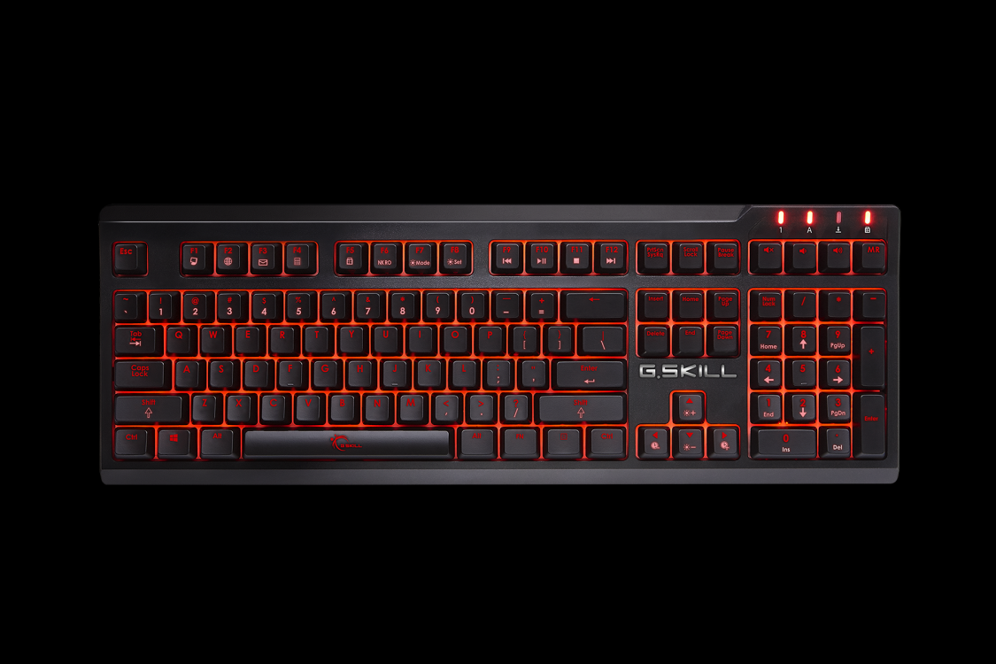 Bàn phím cơ Gskill Ripjaws KM570 Blue Cherry MX Switch USB Full-size Red Led (Đen, phím đen) 5