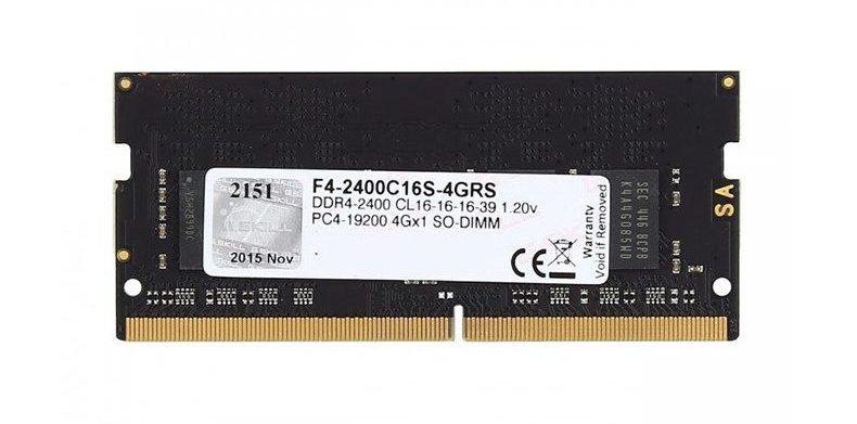 Bộ nhớ laptop DDR4 G.Skill 4GB (2400) F4-2400C16S-4GRS