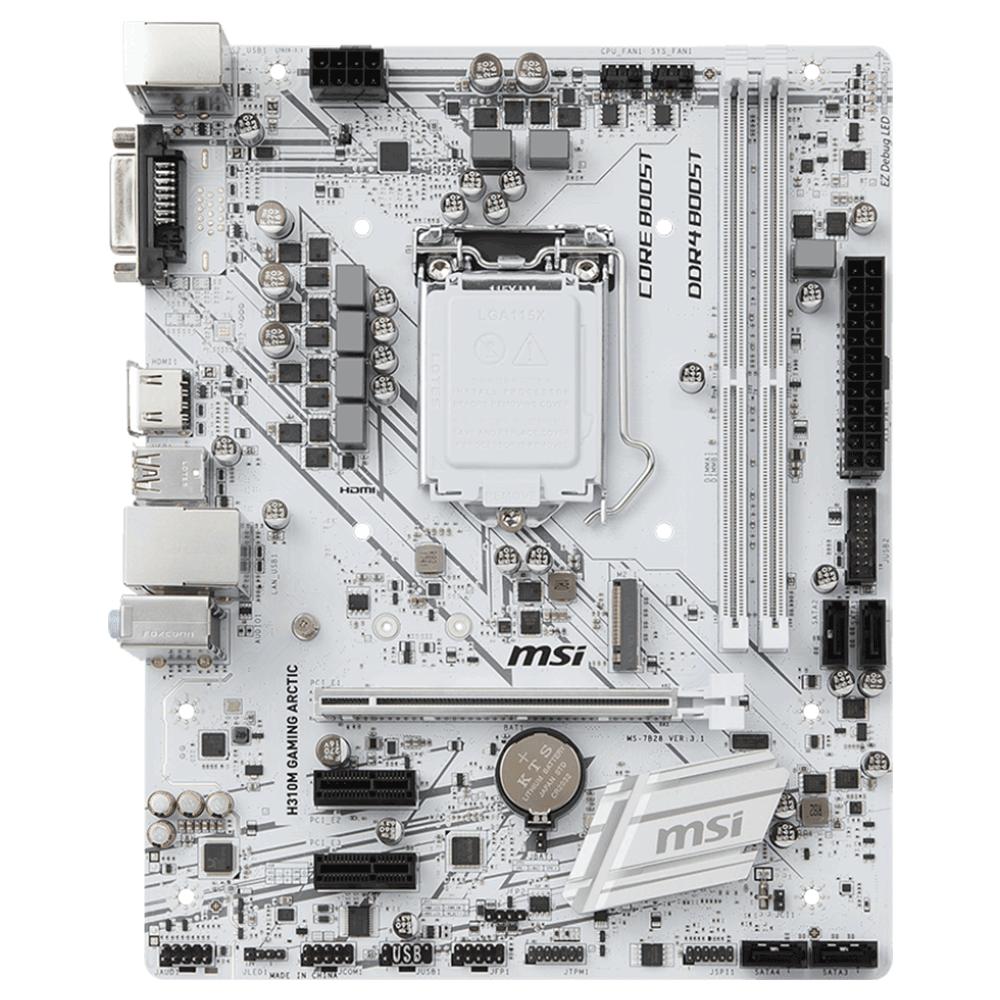 Bo mạch chính/ Mainboard Msi H310M Gaming Arctic