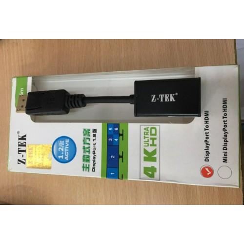 Cáp Displayport to HDMI Ztek 4K (ZE636)