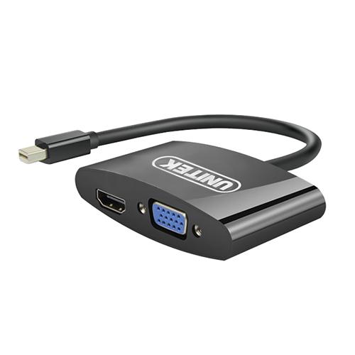 Cáp MiniDisplayport - VGA+HDMI 0.2m Unitek