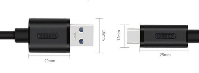Cáp Type C- USB B Unitek 3.0 YC474BK