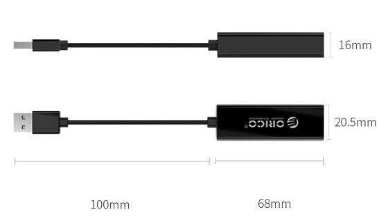 Cáp USB -> LAN 3.0 Orico UTJ.U3BK