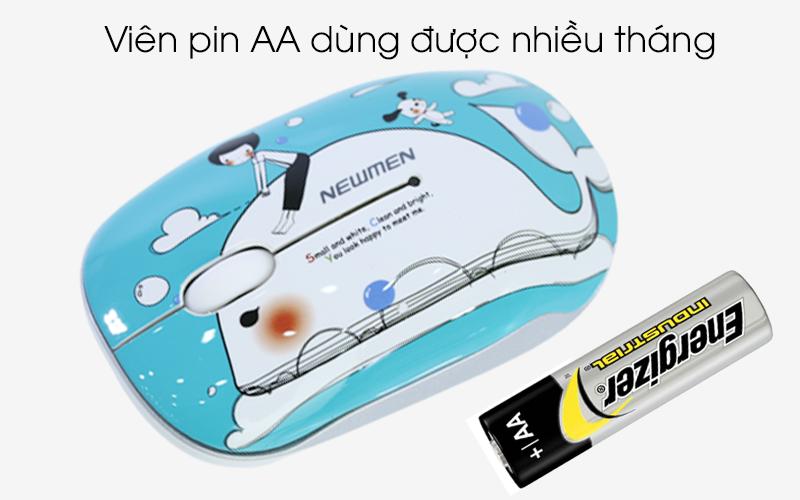 Chuột máy tính Newmen F278 (Hình cá voi xanh)