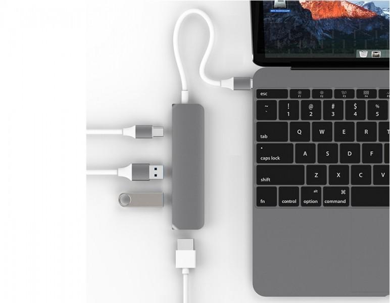 Hub USB-C HDMI 4K HyperDrive GN22B-GR (xám)