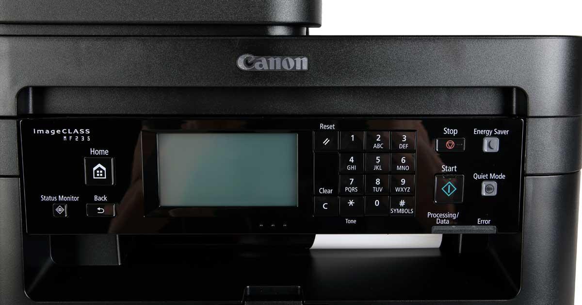 Máy in laser trắng đen CANON MF235 với bảng điều khiển dễ dàng sử dụng
