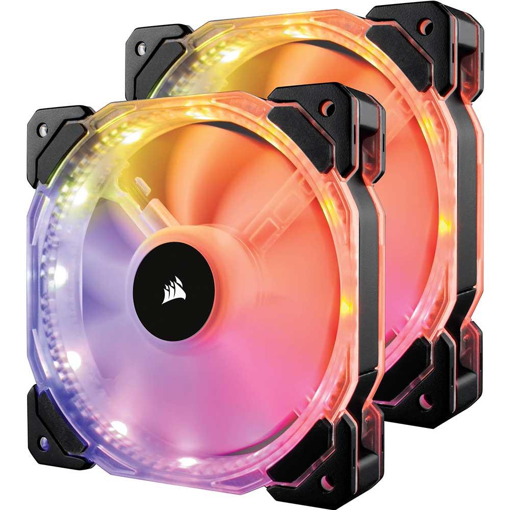Quạt case Corsair FAN HD 140 RGB LED (2 FAN + controller) (CO-9050069-WW)