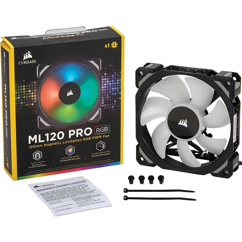 Với dải điều khiển PWM 400 đến 1.600 RPM với tốc độ 25 dBA max, ML120 PRO RGB giúp dễ dàng trang bị cho PC của bạn với sự làm mát yên tĩnh có thể được điều chỉnh cho sự cân bằng hoàn hảo trong luồng không khí mà hệ thống của bạn cần. * Sản phẩm này được thiết kế như một sự mở rộng của một bộ quạt ba ML120 PRO RGB với Lighting Node PRO.