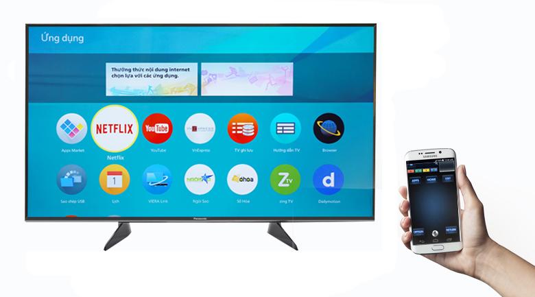 Smart Tivi Panasonic 4K 55 inch TH-55FX600V điều khiển TV bằng đt