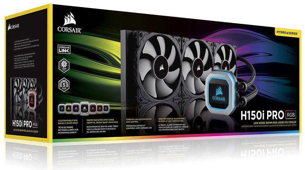 Tản nhiệt CPU Corsair Hydro Cooler H150i Pro RGB - 360mm - Tripple (CW-9060031-WW)