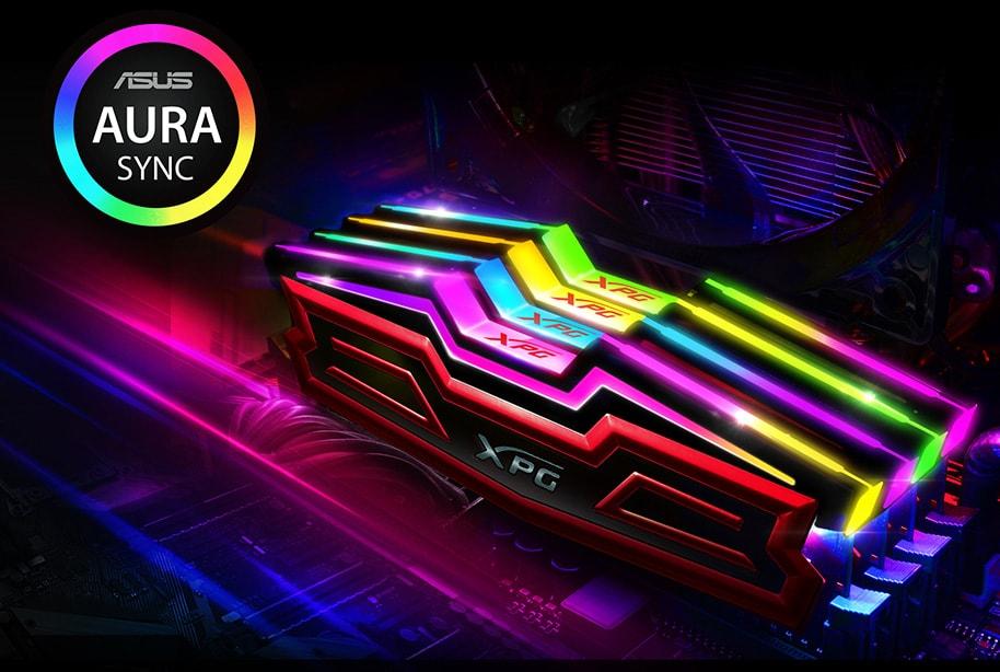 Bộ nhớ DDR4 Adata 16GB (3200) AX4U320038G16-DRS (2x8GB) (Đen)