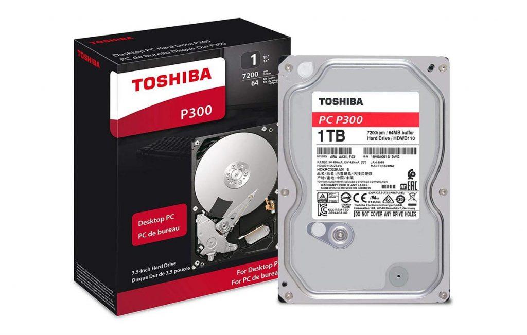 "Ổ cứng HDD Toshiba P300 3.5"" 1TB SATA 7200RPM 64MB (HDWD110UZSVA)"