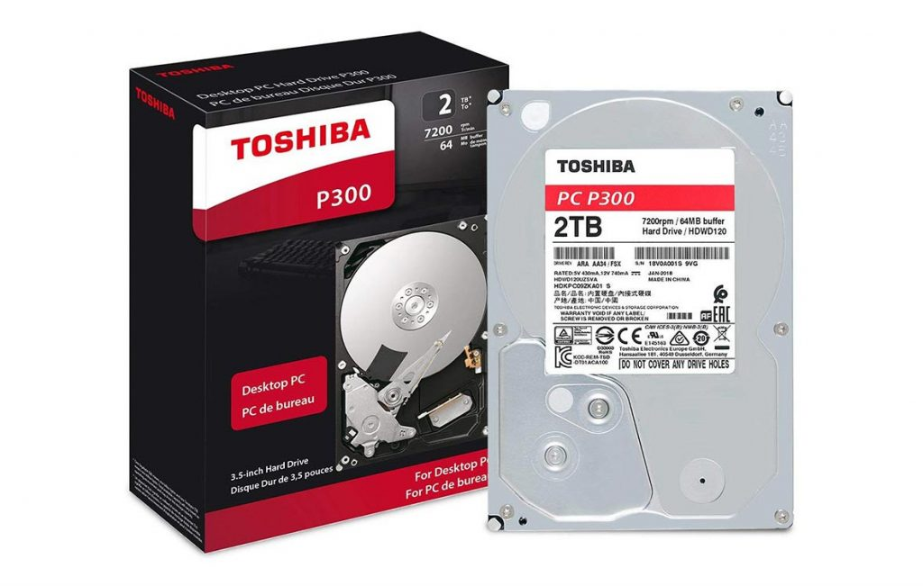 "Ổ cứng HDD Toshiba P300 3.5"" 2TB SATA 7200RPM 64MB (HDWD120UZSVA)"