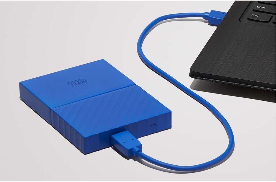 """Ổ cứng HDD WD 1TB Passport 2.5"""", 3.0 (Xanh)"""