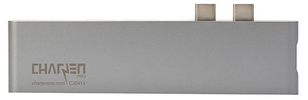 Bộ chuyển đổi CHARJENPRO Macbar 7 in 1 Thunderbolt 3 (Xám)