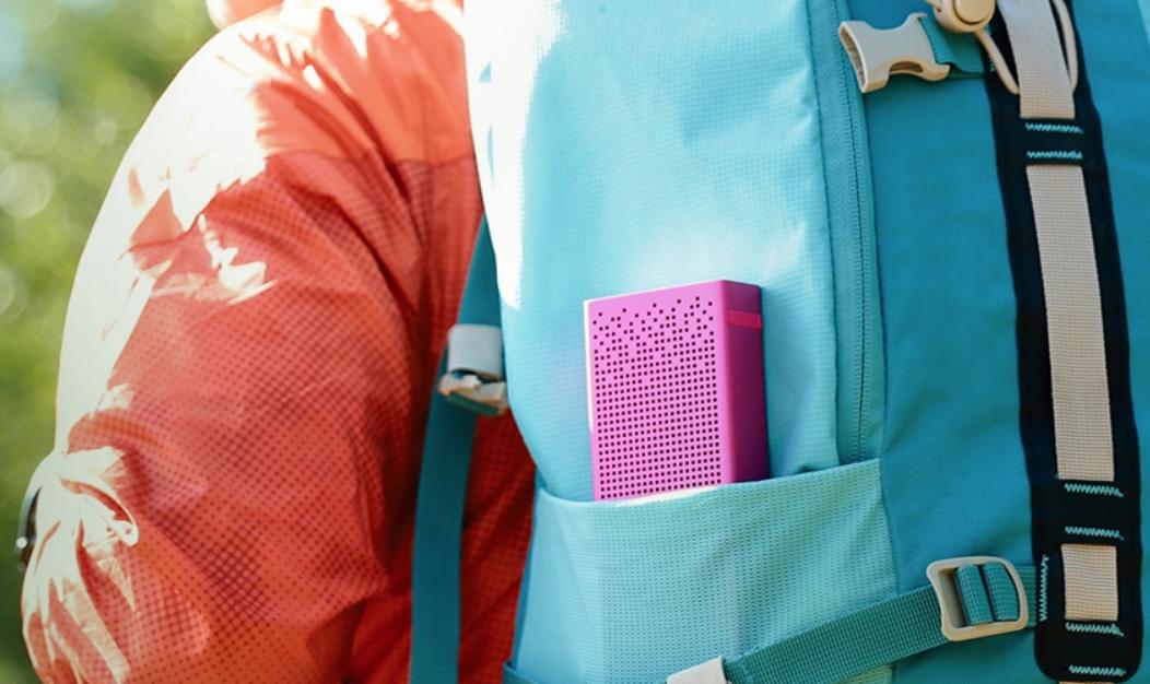 Loa Bluetooth Xiaomi Mi (Xanh) thiết kế nhỏ gọn để dễ dàng mang theo