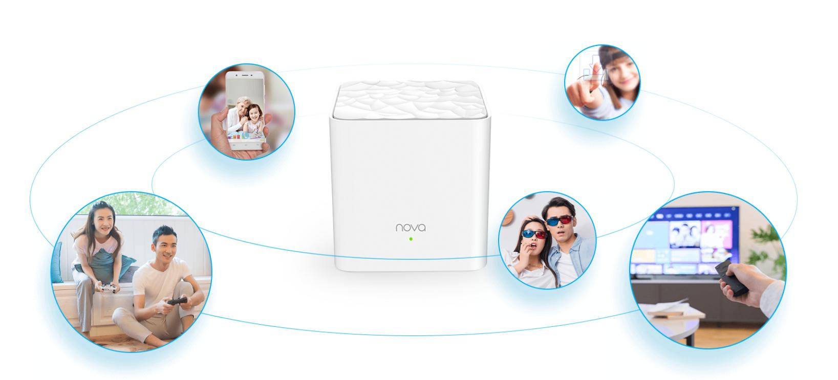 Thiết bị mạng/ Router Tenda NOVA MW3 (3 Pack) (Trắng) sự lựa chọn internet không dây hoàn hảo của gia đình bạn