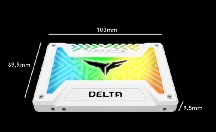 "Ổ cứng SSD Team Delta RGB 2.5"" 500GB SATA 6Gb/s (Trắng)"