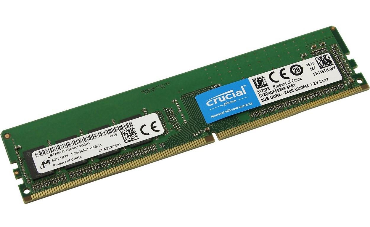Bộ nhớ/ Ram Crucial 4GB DDR4 2400 (CT4G4DFS824A)giúp tăng tốc hệ thống của bạn