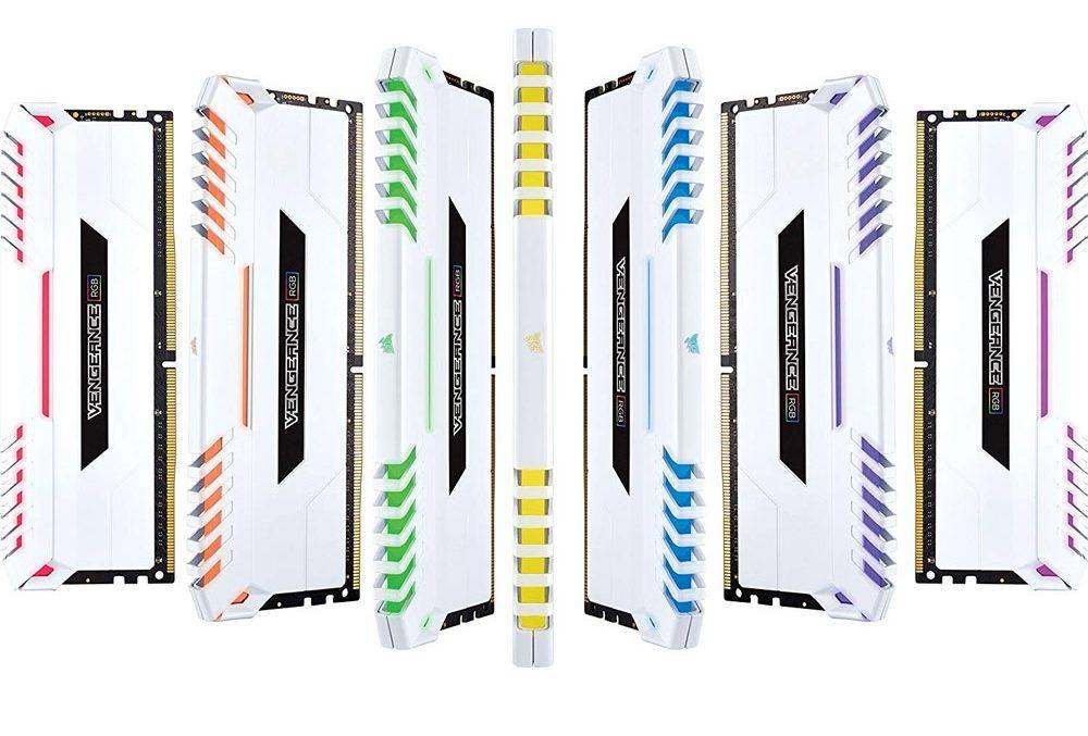 Bộ nhớ DDR4 Corsair 16GB (3000) CMR16GX4M2C3000C15W Ven RGB (2x8GB) (Trắng)