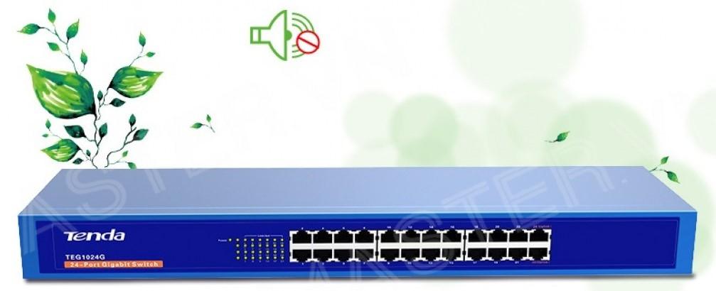 Thiết bị mạng/ Switch Tenda TEG1024G (Xanh)
