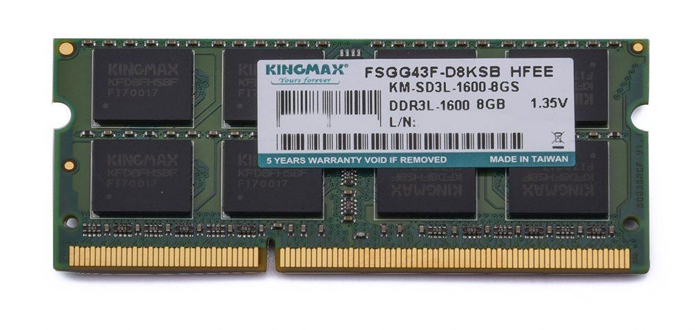 Bộ nhớ laptop DDR3 Kingmax 8GB (1600) (DDR3L)