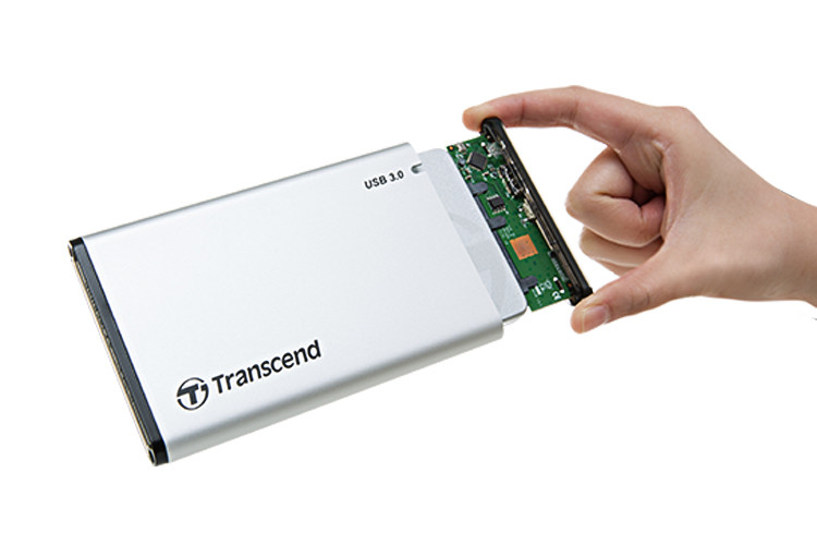 Box ổ cứng 2.5'' Transcend (Bạc)