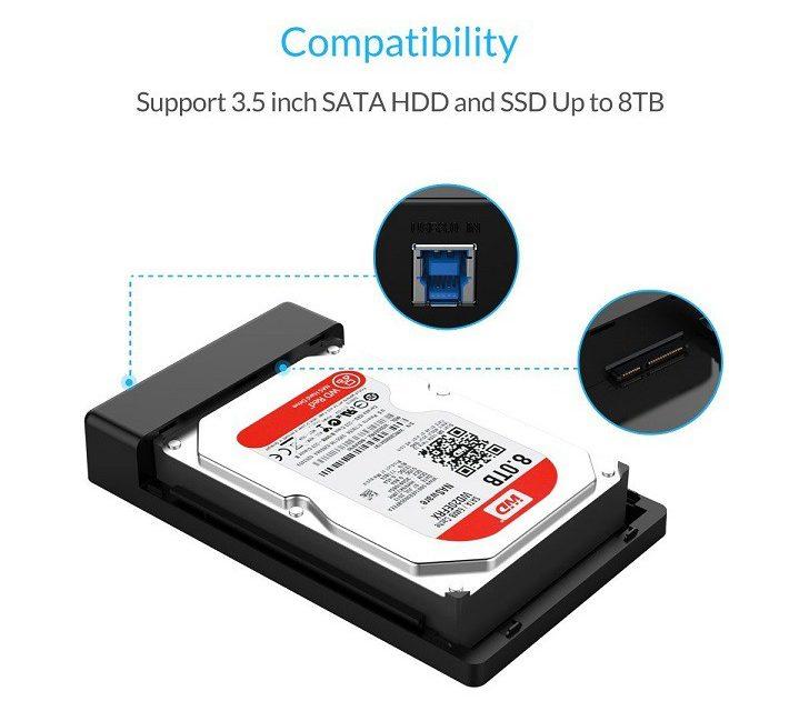 Box ổ cứng 3.5'' Orico 3588US3 Sata (3.0)