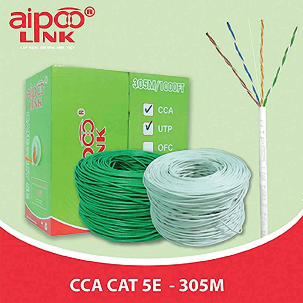 Cáp Aipoo Link UTP Cat 5e-CCA 305M