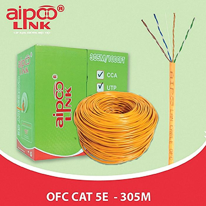Cáp Aipoo Link UTP Cat 5e-OFC 305M