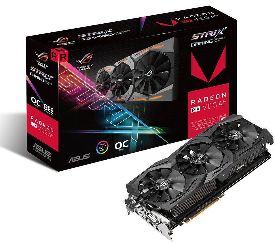 Card màn hình ASUS 8GB ROG Strix RX VEGA 64 O8G Gaming