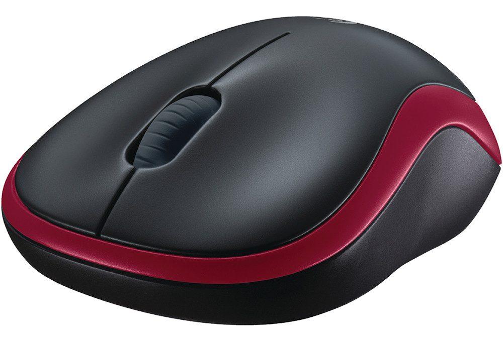 Chuột máy tính Logitech M185 (Đỏ)