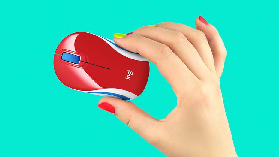 Chuột máy tính Logitech M187 (Đỏ) Chuột không dây linh hoạt và tiện lợi