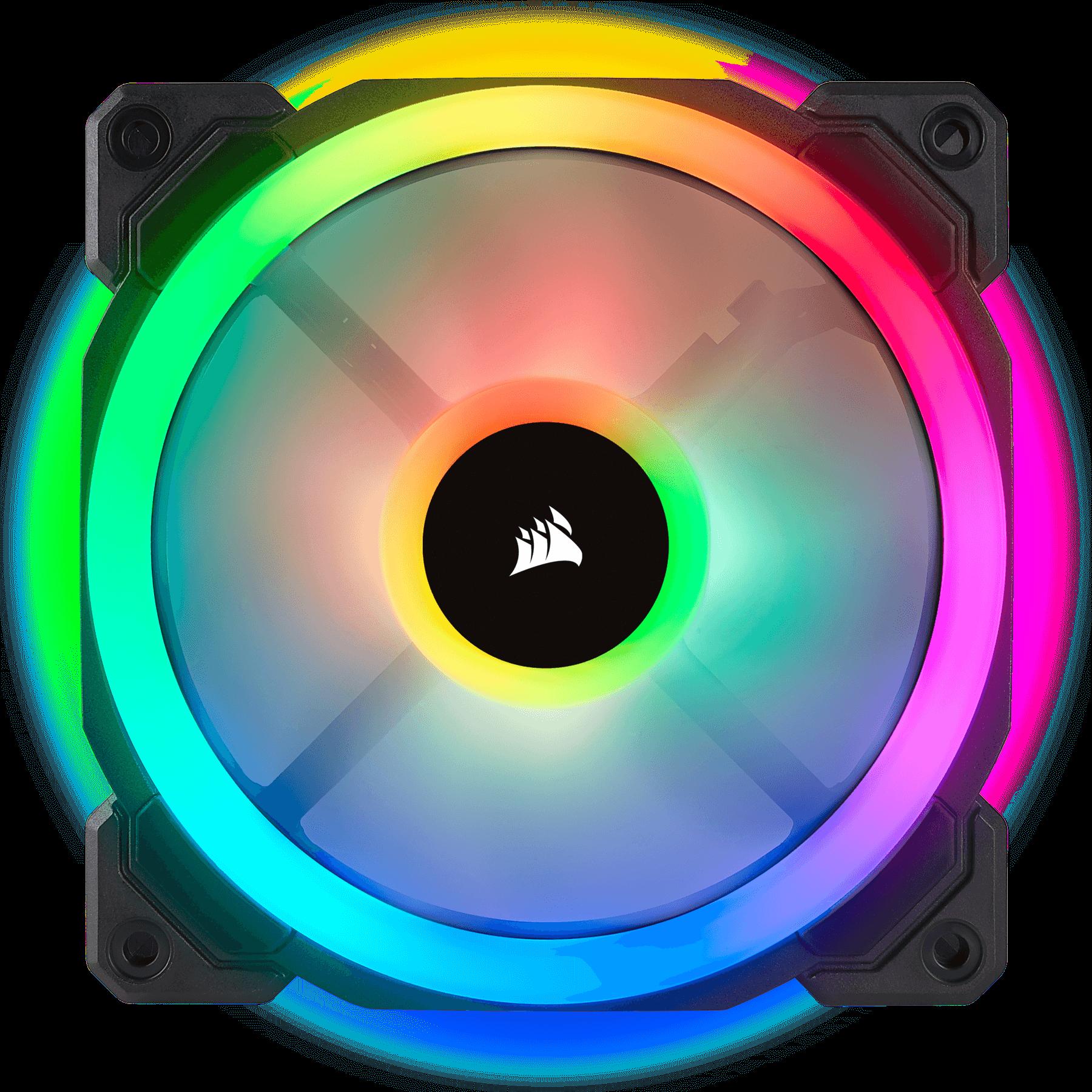 Fan Corsair LL120 RGB 120mm Dual Light Loop RGB LED PWM Fan (Gồm 3 Fan với Lighting Node PRO) (CO-9050072-WW) 1