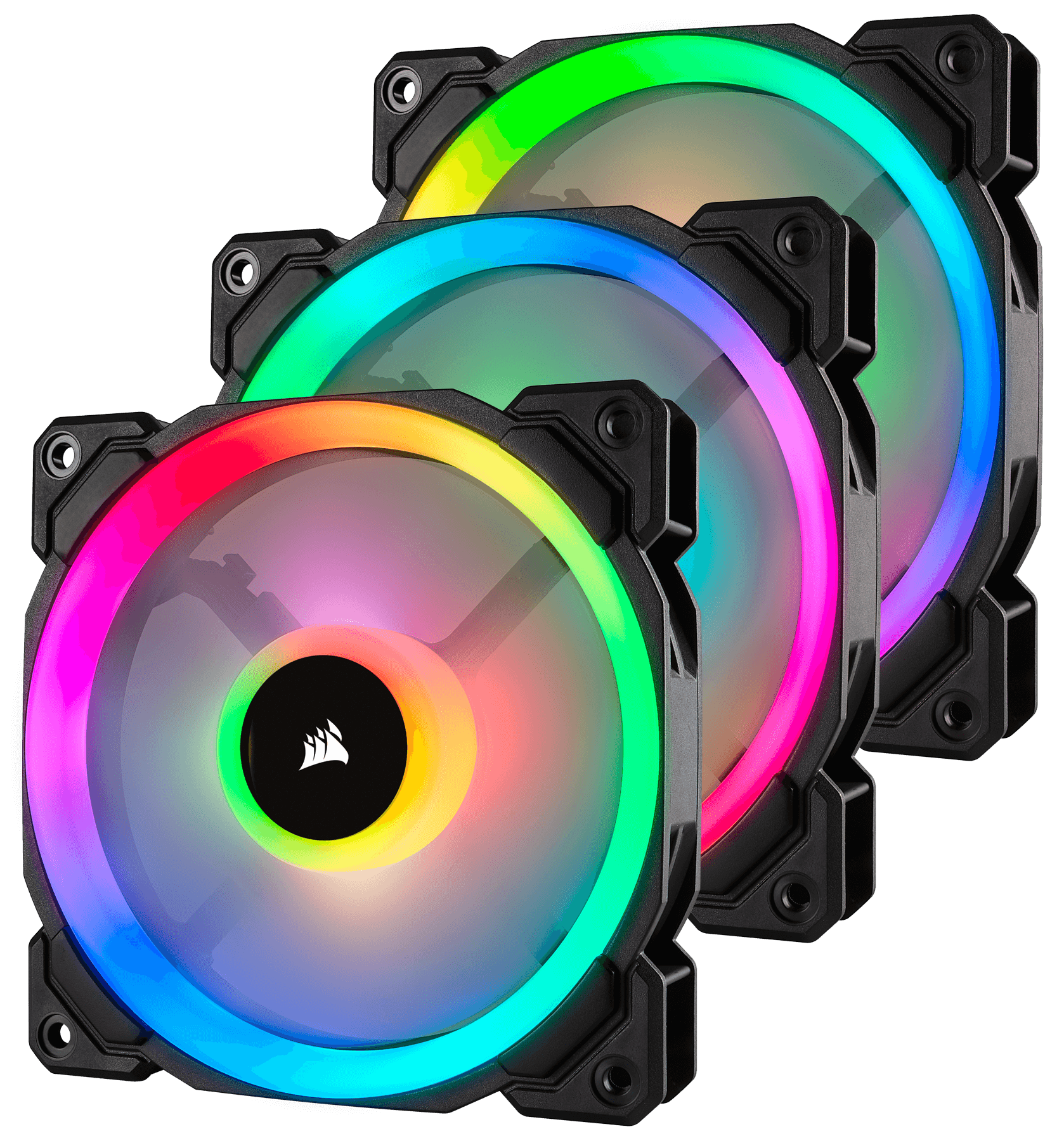 Fan Corsair LL120 RGB 120mm Dual Light Loop RGB LED PWM Fan (Gồm 3 Fan với Lighting Node PRO) (CO-9050072-WW) 4