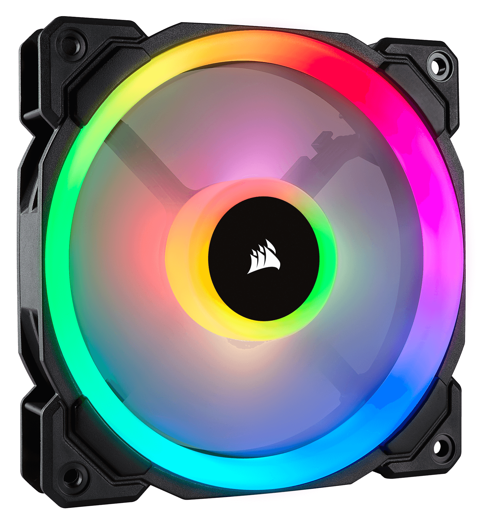Fan Corsair LL120 RGB 120mm Dual Light Loop RGB LED PWM Single Pack (CO-9050071-WW) 2