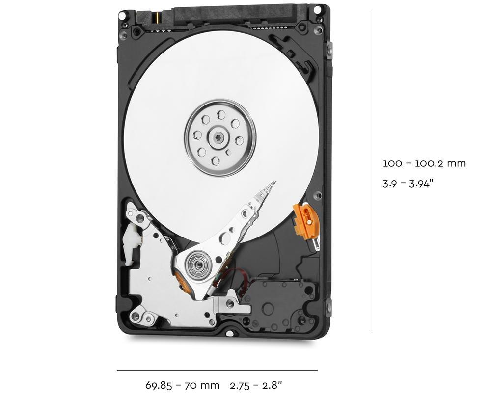 "HDD WD 1TB 2.5"" Sata 3 5400 (WD10SPZX) (Xanh)"