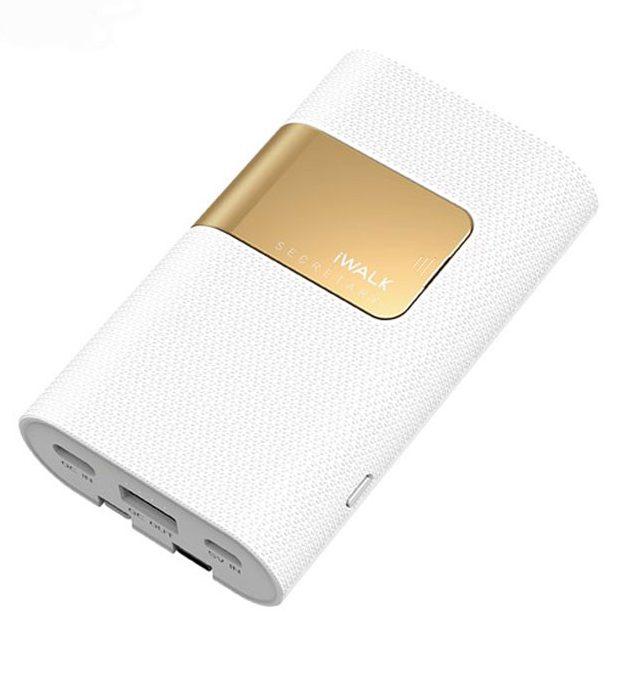 Pin sạc dự phòng iWALK SBS100 10000 mAh (Trắng)
