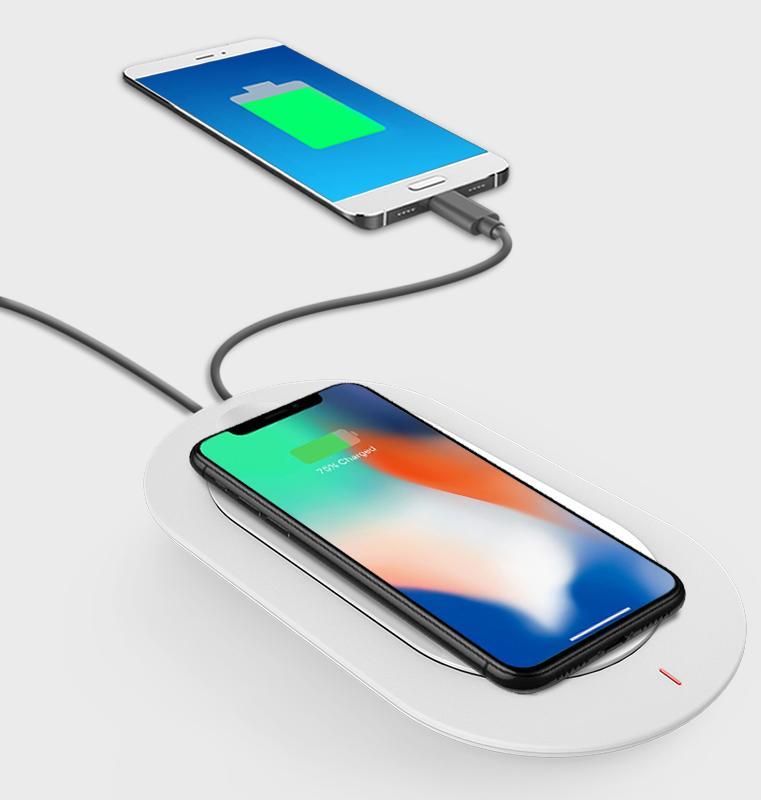 Pin sạc dự phòng không dây MIPOW Cube X 5000 mAh SPX07-WT (Trắng) sạc không dây đẳng cấp cho smartphone của bạn