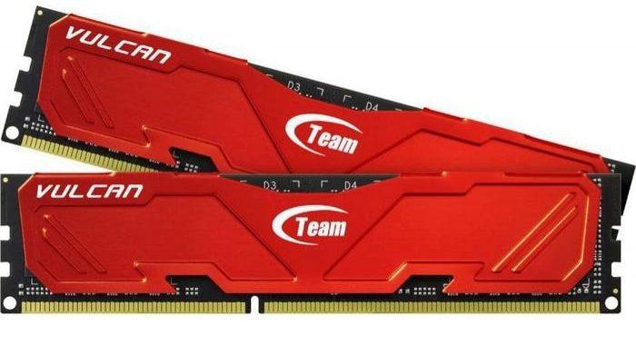 RAMTeam Vulcan 8GB DDR3 1600 Heatsink (Đỏ)