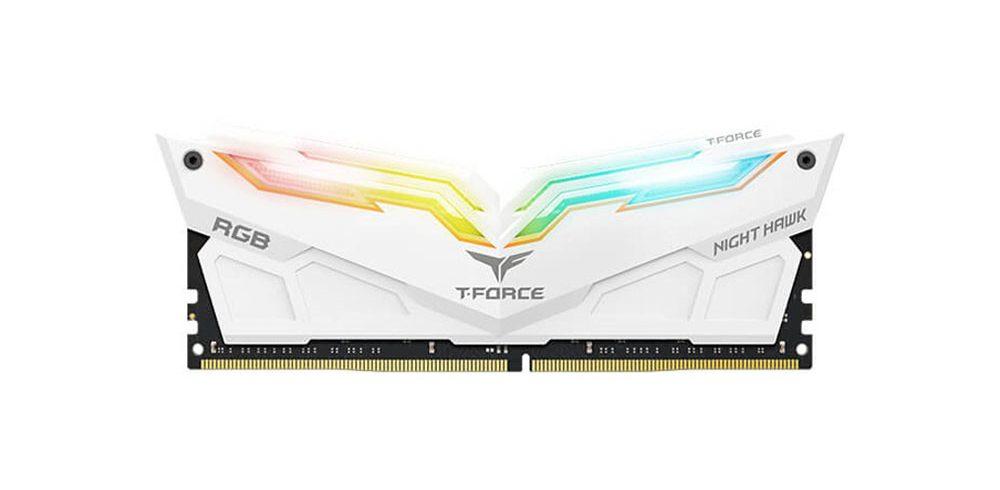 Bộ nhớ/ Ram Team Night Hawk RGB 16GB (2x8GB) DDR4 3000 Heatspreader (Trắng)