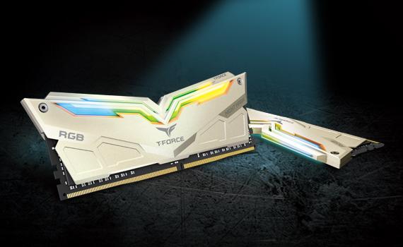 Bộ nhớ/ Ram Team Night Hawk RGB 16GB (2x8GB) DDR4 3200 Heatspreader (Trắng)