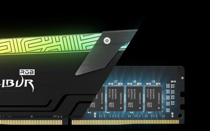 Bộ nhớ/ Ram Team XCALIBUR RGB 16GB (2x8GB) DDR4 3600 Heatspreader