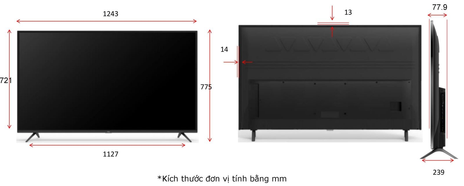 Smart Tivi TCL 55 inch UHD 4K - Model 55P65
