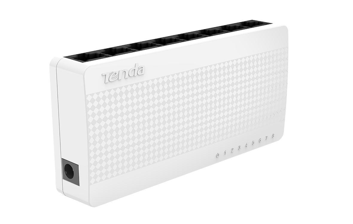 Thiết bị mạng/ Switch Tenda 8P S108 (Trắng)