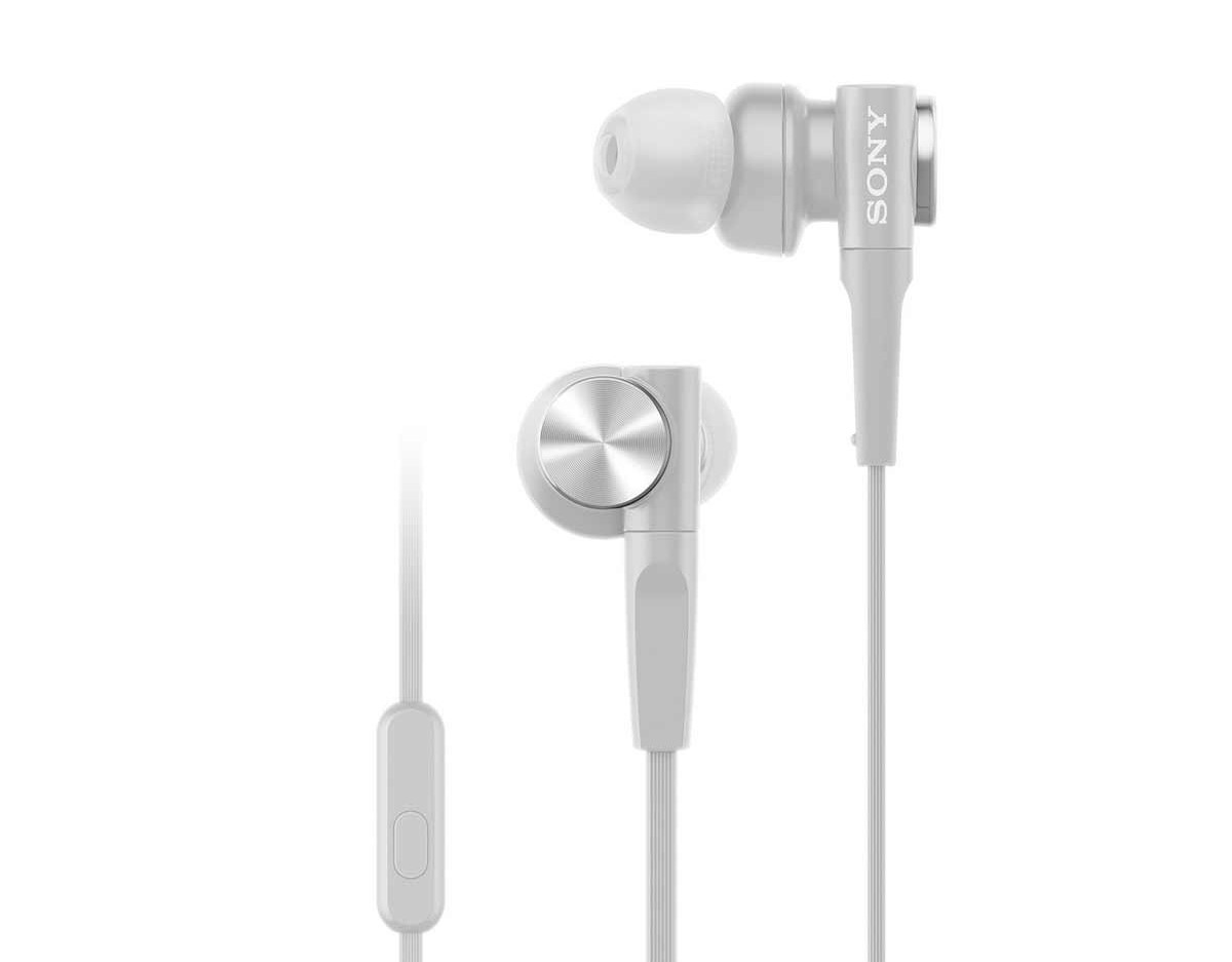 Tai nghe Sony MDR-XB55AP/WQE (Trắng)thiết kế hiện đại cho âm thanh mạnh mẽ