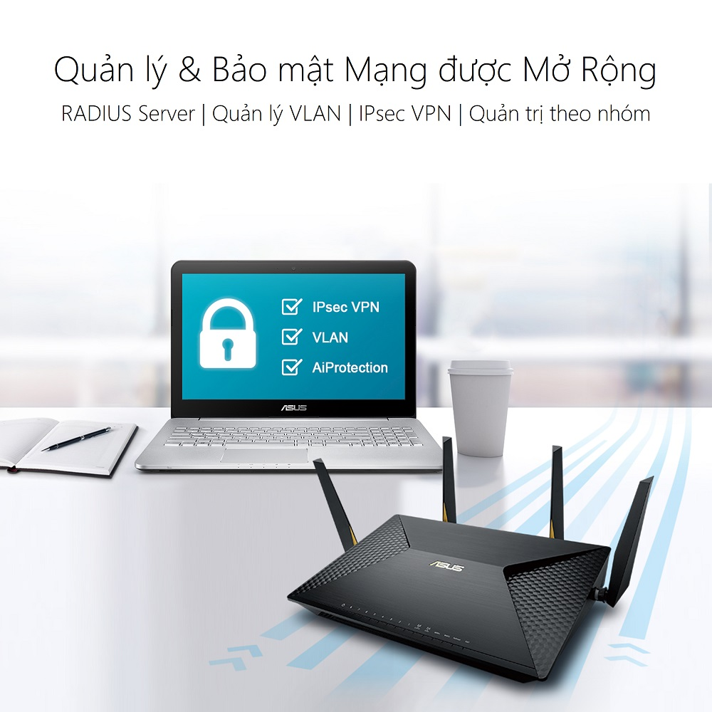 Thiết bị mạng Asus BRT-AC828 - Phong Vũ